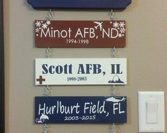 Military Home Signs With one Base/Post