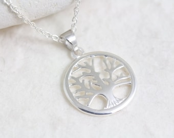 Sterling Silver Tree of life Necklace .Silver Family Tree . Mother Jewelry , Most Popular items for silver tree