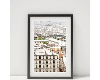 Paris Photography Print - Paris rooftops - Framed Paris Print - Paris canvas wrap