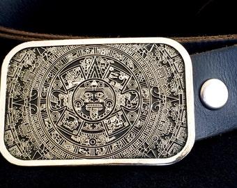 Aztec Calendar Belt Buckle