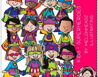 Superheroes clip art - Kids
