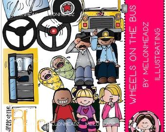 Wheels on the Bus clip art