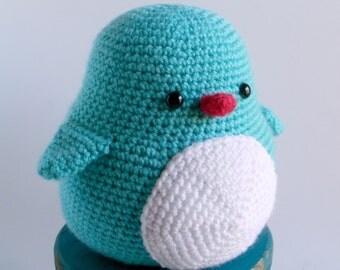 Bubbles the Crochet Penguin