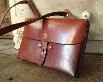 Swiss Army Leather Messenger Bag Crossbody Handbag