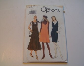 Vintage Vogue Pattern easy options Miss Jumper