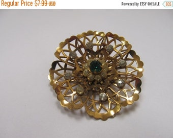 On Sale Coro Open Work Rhinestone Pin Item K # 824