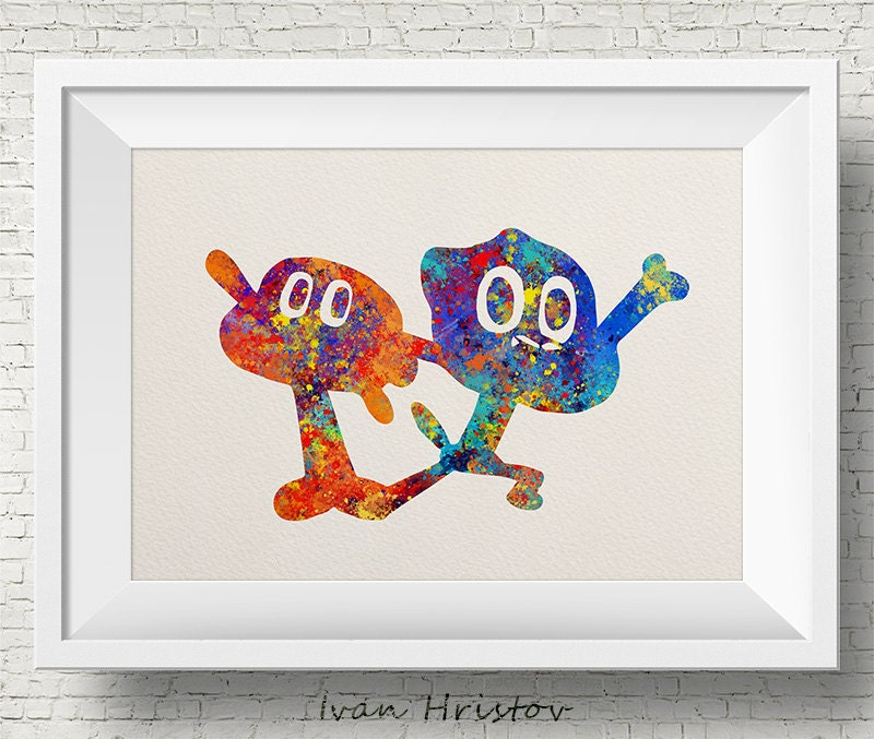 The Amazing World of Gumball Darvin & Gumball Art Print