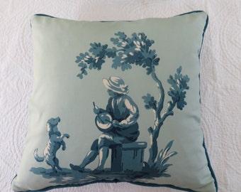 Piere Frey toile 16 x 16 inch cushion cover