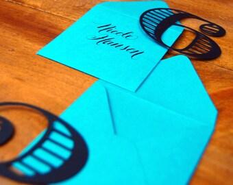 Number Escort Cards with envelopes