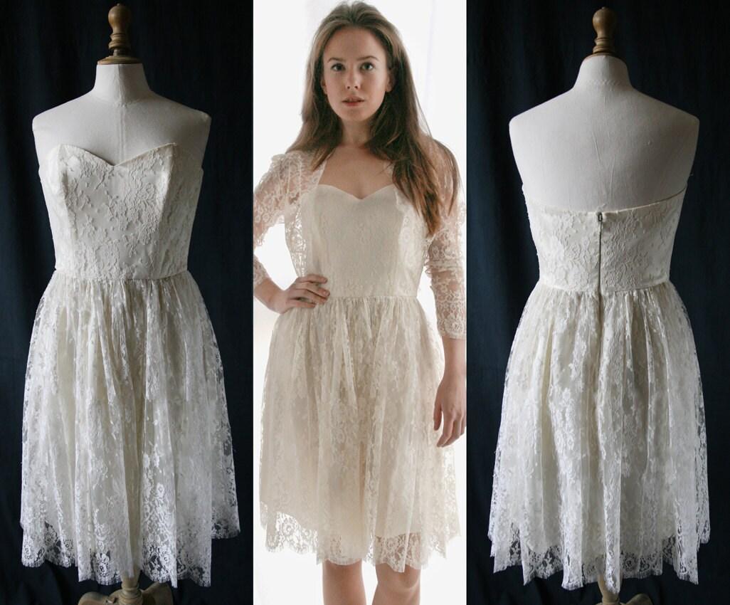 Wedding short corset dress french lace single model vintage for French vintage wedding dresses