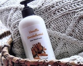 Vanilla Sandalwood Lotion - Body Butter - Vegan with Organic Ingredients - 8oz