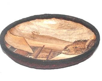 Large Vintage African Wovan Bowl, Antique Alchemy
