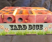 Large yard Dice Carolina Red Cedar Yardzee dice lawn game Farkle Yardzee Yahtzee Dice Game