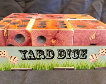Large yard Dice Carolina Red Cedar Yardzee dice lawn game Farkle Yardzee Yahtzee Dice Game