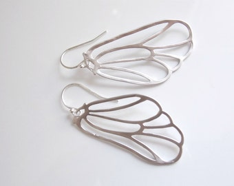 Beautiful Butterfly or Angel wings earrings. Sterling silver, everyday, special occasion.