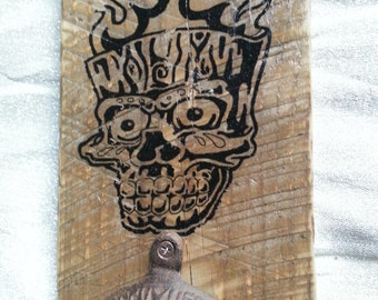 Tiki Skull Bottle opener