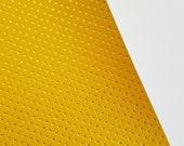 8x11 NEW Mustard with Gold Metallic Dots Fabric Sheet
