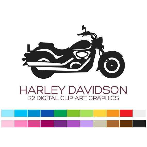 Harley Davidson Clipart Motorcycle Clipart Vehicle By