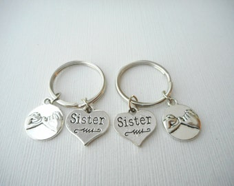 2 Pinky Promise, Sister- Best Friend Keychains/ Sister jewelry, Gift for Sister, Big sis, Lil sis, Sorority, Big Sister Little Sister