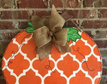 Wood Pumpkin Door Hanger