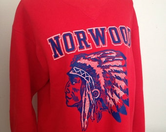 Vintage Norwood High School (MA) early 90s crewneck
