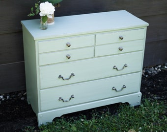 Light Sage Green Maple Dresser