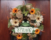 Welcome Spring Frog Wreath