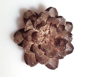 Vintage Brooch SPUN SILVER Flower Brooch Filigree Brooch 925 Silver Floral Pin Design Lacey Flower Pin Very INTRICATE