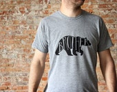 Brother Bear Adult T-shirt • Brother Shirt • Hand-lettered Typographic Bear Design • American Apparel Tee • Gift for Brother • FREE SHIPPING
