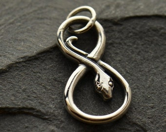 Sterling Silver Infinity Snake Charm