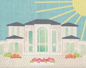 Paris France LDS Temple Collage digital download