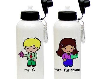 Personalized Teacher Animated Aluminum Water Bottle