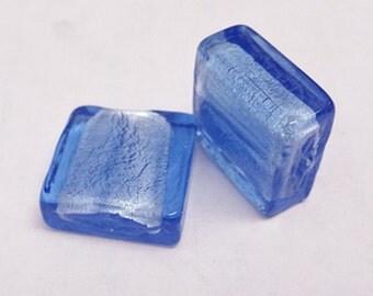 8pc 20mm square shape glass lampwork bead-7209A