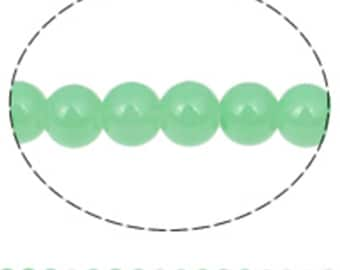 1 strand 32 inch over 100beads 8mm light green glass beads-10337