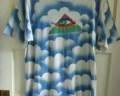 Vintage 80s AIRBRUSHED HIPPIE Third Eye T Shirt sz S