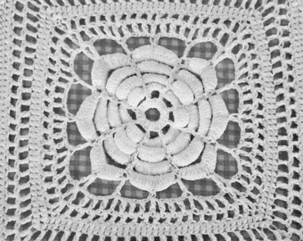 Hand Crochet Cotton Lace Bed Topper 80 inches x 96 inches