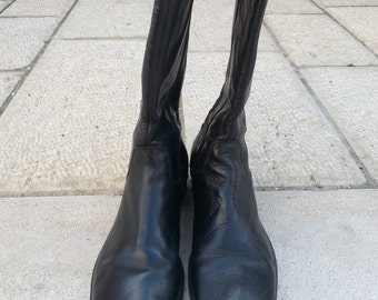 JANET & JANE leather boots used but not abused size 37 made in Italy circa 1978