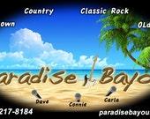 Paradise Bayou Logo jar