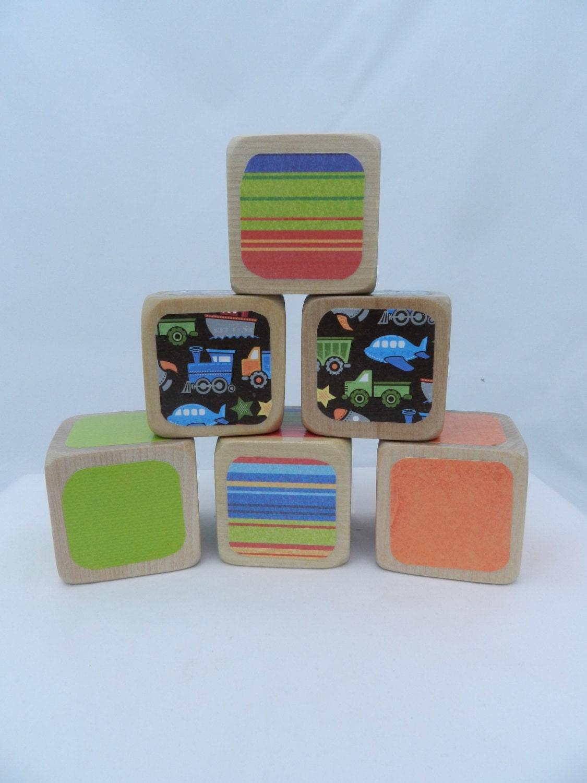 baby shower diy wooden blocks baby block decorating kit. Black Bedroom Furniture Sets. Home Design Ideas