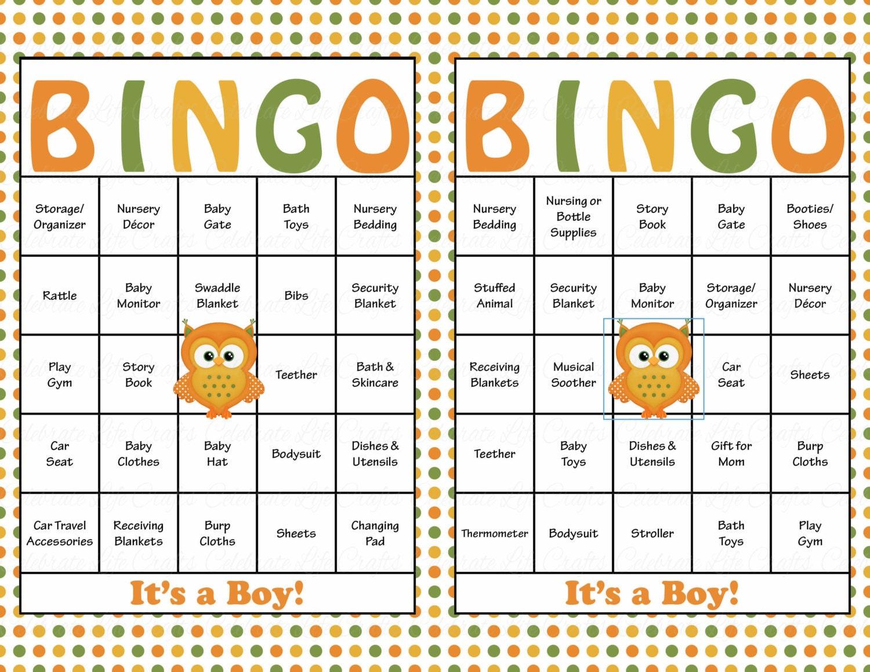 Peaceful image throughout fall bingo printable