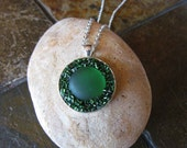 Green Pendant Necklace DL...