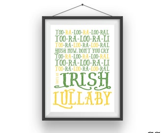 Too Ra Loo Ra Loo RaL Nursery Rhyme - Irish Baby Print
