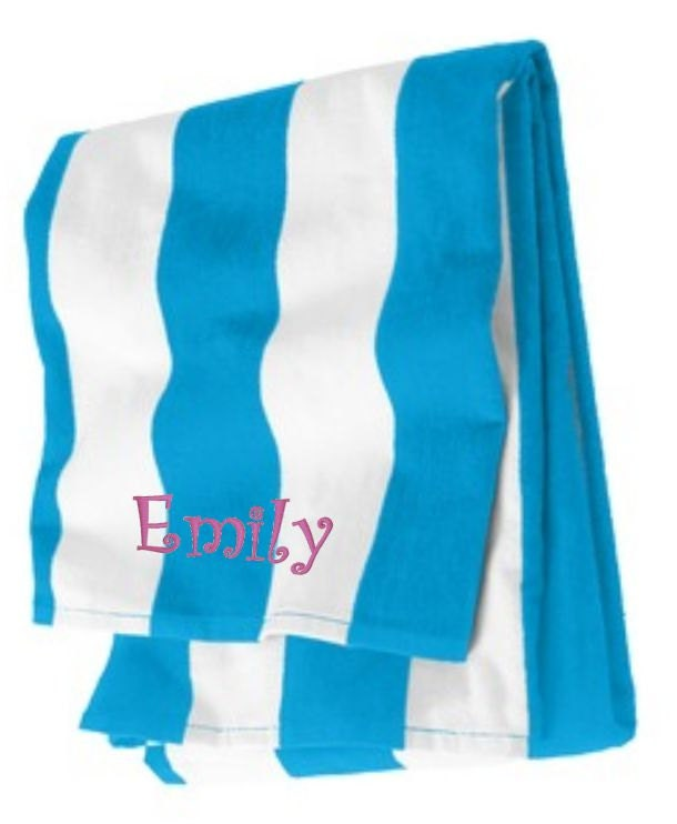Personalized Beach Towel For Toddler: Beach Towels Personalized Towel Cabana Beach Towel Kids