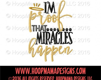 I'm Proof Miracles Happen, Miracles Shirt, Baby Shower Gift, Baby Gift, Hospital Outfit, Take Home Outfit, Newborn,