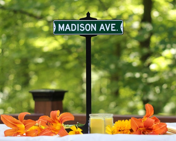 Wedding Table Vintage Custom Street Sign Decoration With Stand
