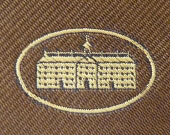 RARE Vintage BROWN UNIVERSITY Pure Silk Trad / Ivy League Emblematic Club Neck Tie.