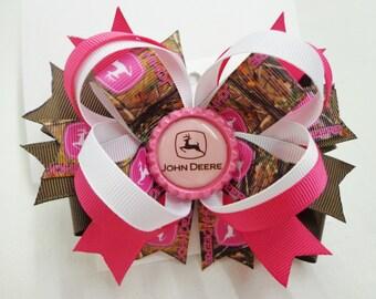 John Deere Pink Bow