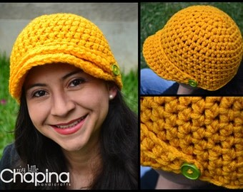 Newsboy Thick Hat in Mustard Color