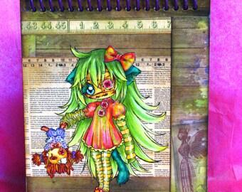 Green Girl Notebook