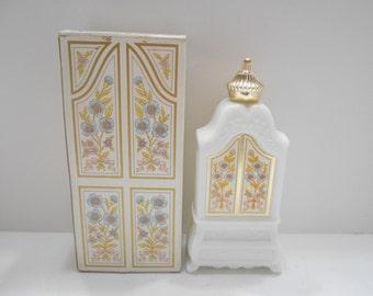 Vintage Avon Armoire Decanter (10) Milk Glass Decanter--Empty